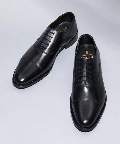 London Shoe Make(ロンドンシューメイク)の「London Shoe Make Oxford and Derby  / 内羽根 ストレートチップ ドレスシューズ ≪グッドイヤーウエルト製法≫ 8027(ドレスシューズ)」|ブラック