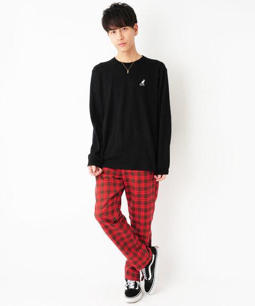 KANGOL(カンゴール) 左胸刺繍 ロンT 長袖Tシャツ