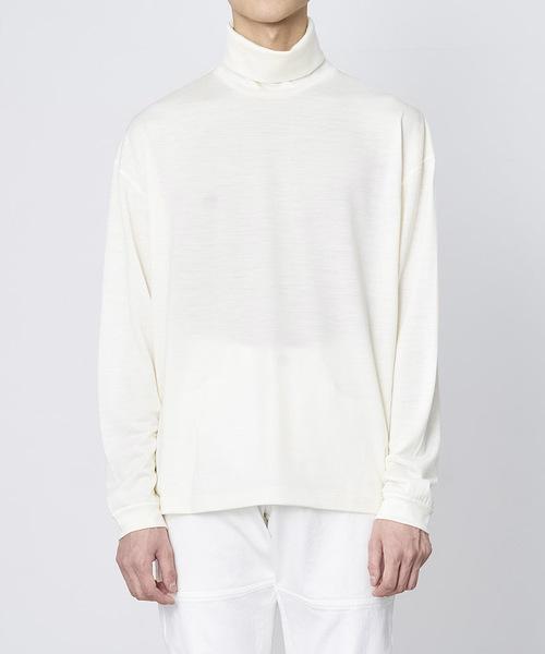 JUHA(ユハ)の「WASHABLE WOOL TURTLE L/S(Tシャツ/カットソー)」|ホワイト