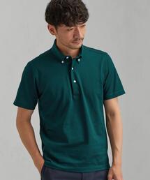 green label relaxing(グリーンレーベルリラクシング)のNM D/C バースアイ ボタンダウンカラー SS ポロシャツ <吸水速乾・抗菌>(ポロシャツ)