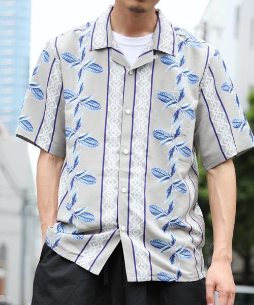 LiSS(リス)の「【LiSS】オープンカラーシャツ/アロハ 開襟シャツ(シャツ/ブラウス)」|ベージュ