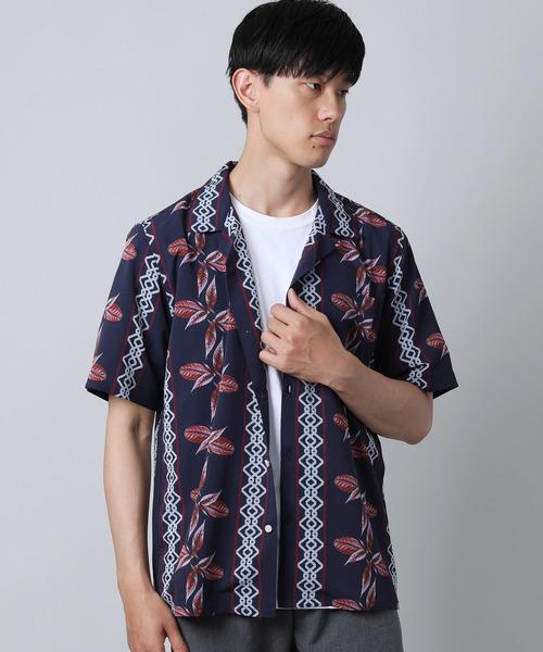 LiSS(リス)の「【LiSS】オープンカラーシャツ/アロハ 開襟シャツ(シャツ/ブラウス)」|ネイビー