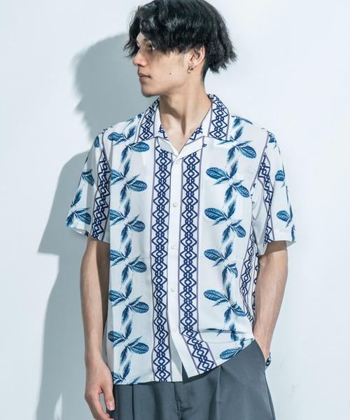 LiSS(リス)の「【LiSS】オープンカラーシャツ/アロハ 開襟シャツ(シャツ/ブラウス)」|ホワイト