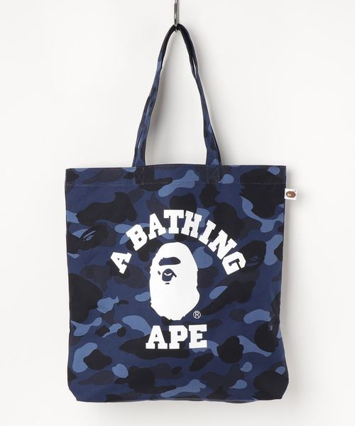 COLOR CAMO COLLEGE TOTE BAG M BAPEC