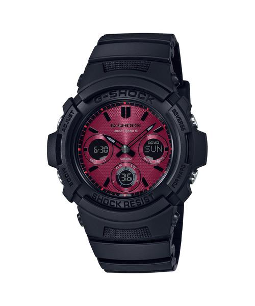 ラウンド  Black and Red/ Series/ 電波ソーラー/ AWG-M100SAR-1AJF Red and/ Gショック(腕時計)|G-SHOCK(ジーショック)のファッション通販, 栗原精穀:8ae26822 --- kredo24.ru