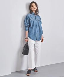 <MADISON BLUE(マディソンブルー)>HAMPTON シャンブレーシャツ  ■■■