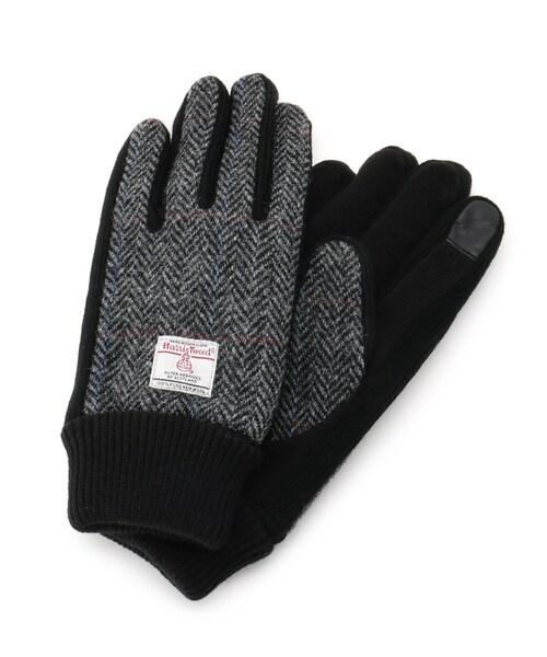HARRIS TWEED(ハリスツイード)の「Harris Tweed ハリス ツィード 手袋 グローブ(手袋)」|グレー