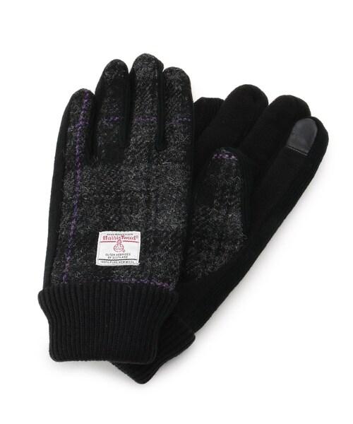 HARRIS TWEED(ハリスツイード)の「Harris Tweed ハリス ツィード 手袋 グローブ(手袋)」|チャコールグレー