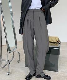 【chuclla】Ankle zipper curve slacks sb-4 chw1360グレー