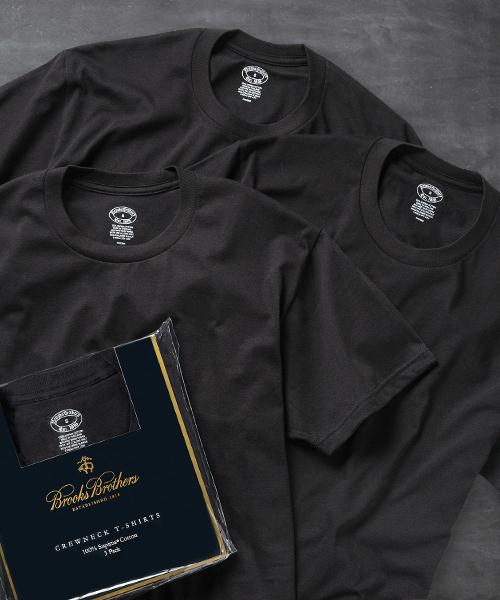 スーピマコットン 3パック ベーシック クルーネック Tシャツ