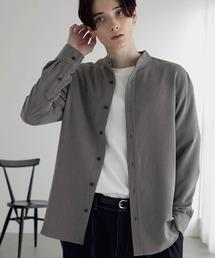 MONO-MART(モノマート)のT/R ストレッチ バンドカラーシャツ(シャツ/ブラウス)