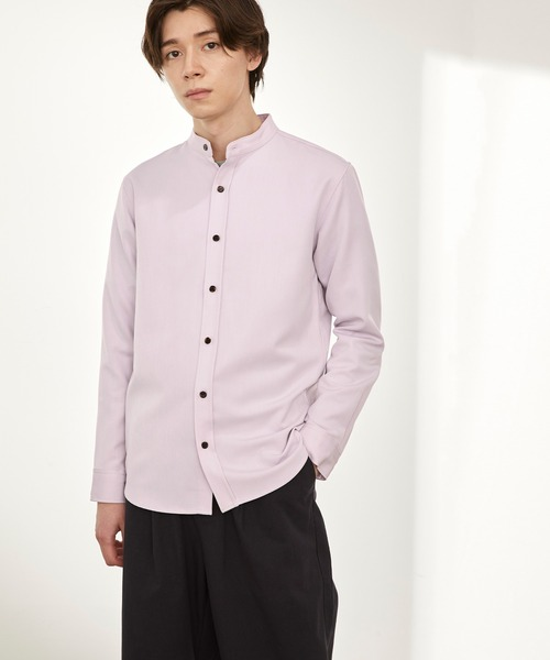 T/R ストレッチ バンドカラーシャツ 2021SPRING