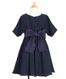 DRESS LAB(ドレスラボ)の\キッズ パーティー ドレス/レースリボンフレアワンピースドレス(ママとお揃いドレス)【結婚式・お呼ばれ・誕生日会・パーティー・発表会など】(ドレス)