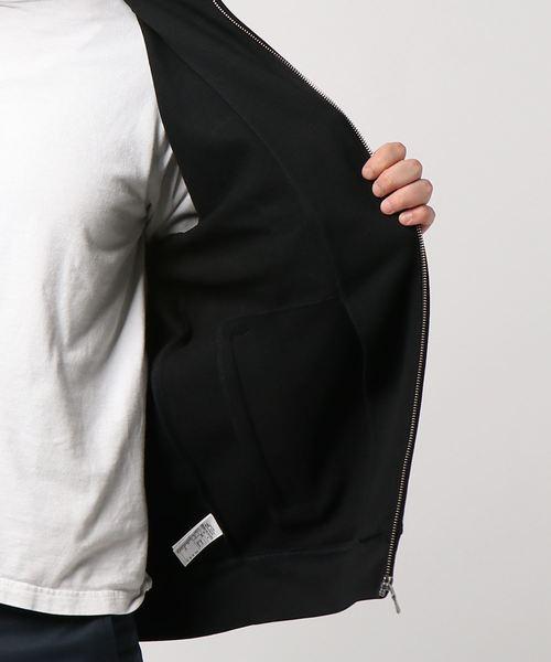 スタンドカラージップアップスウェットジャケット