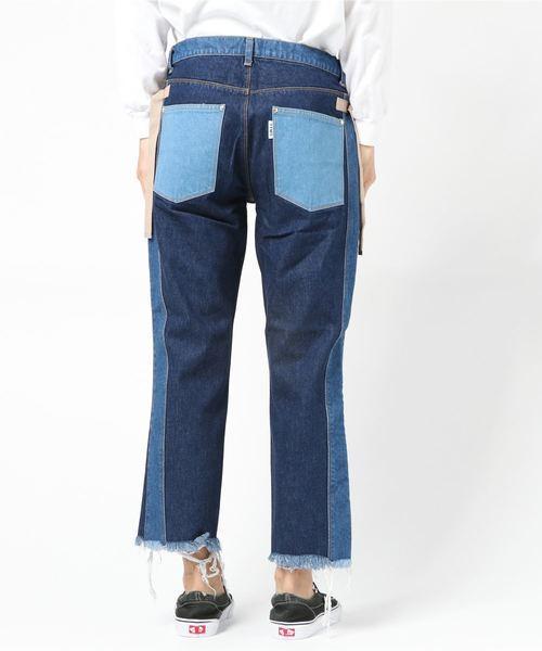 [TOTOMESS / トトメス] SWITCHING DENIM PANTS
