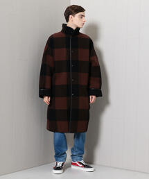 <H>BUFFALO CHECK STND COAT/コート