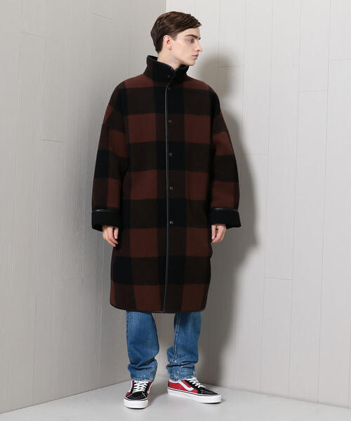 <H>BUFFALO CHECK STND COAT/コート