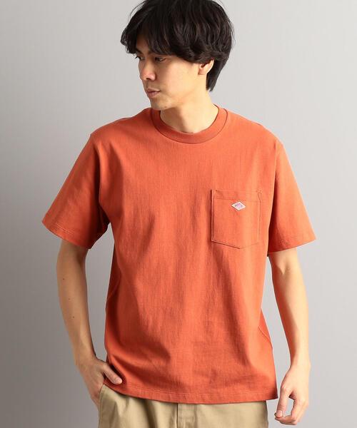 【WEB限定】[ダントン] SC★★DANTON ロゴ ポケット Tシャツ