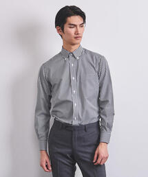 ○UADB イージーケア ギンガムチェック ボタンダウンシャツ ◆