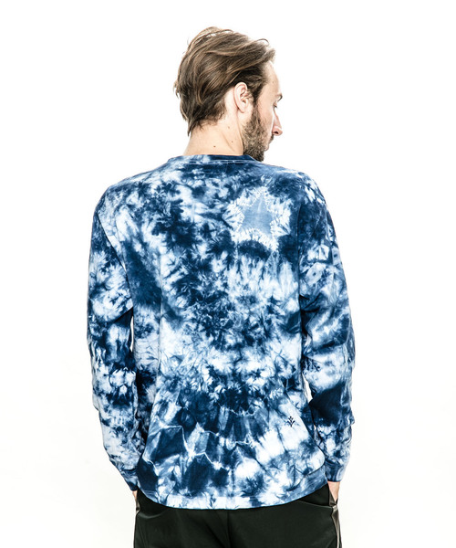 ACANTHUS: embroidery logo star tie-dye L/S Tee:エンブロイダリーロゴスタータイダイロングスリーブTシャツ