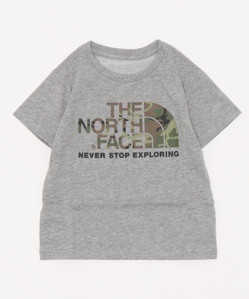 THE NORTH FACE(ザノースフェイス)の「THE NORTH FACE/ザ・ノースフェイス/T-shirt/ロゴTシャツcamo logo NTJ31992(Tシャツ/カットソー)」|グレー