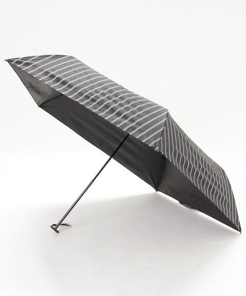 軽量120g スーパーライトストライプ折り畳み日傘【UV加工、遮光·遮熱、晴雨兼用傘】