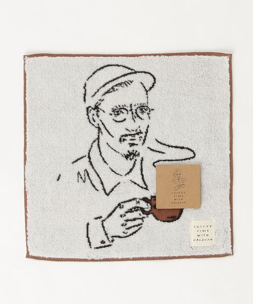 【 COFFEE TIME WITH VAUGHAN / コーヒータイムウィズヴォーン 】タオルハンカチ 131010012 KBI