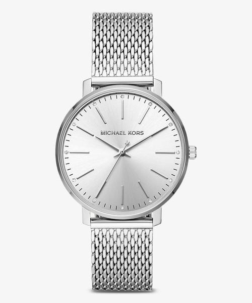 6fc87a30dd7f MICHAEL KORS(マイケルコース)の「PYPER(パイパー) シルバー ウォッチ(腕時計
