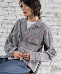 【WEB限定】KANGOL(カンゴール)ブリティッシュチェックビッグシルエットオープンカラーシャツ