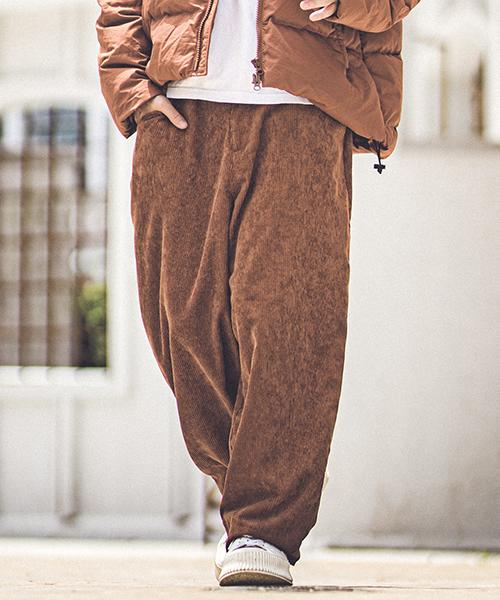 100%安い mp7220-Wide wale corduroy Wide silhouette pants パンツ, 木のおもちゃ デポー f634f292