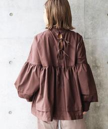 Ifuru(イフル)のタックリボンシャツ(シャツ/ブラウス)