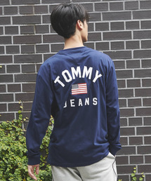TOMMY JEANS(トミー ジーンズ)のロゴ ロング スリーブ Tシャツ(Tシャツ/カットソー)