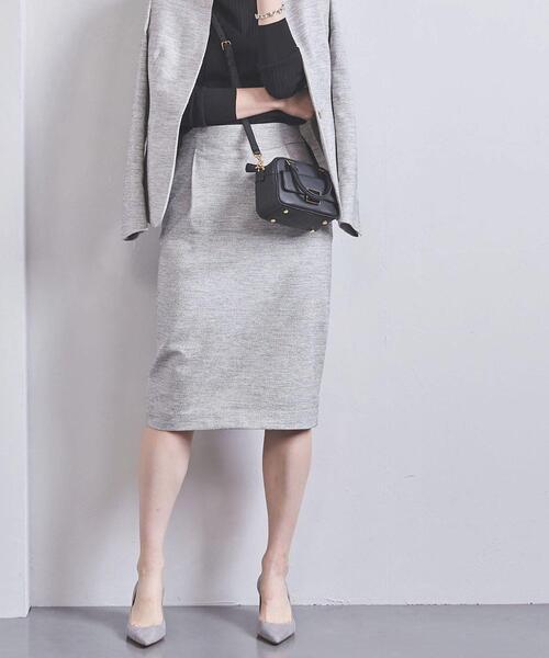UBCB メランジツイード タイトスカート