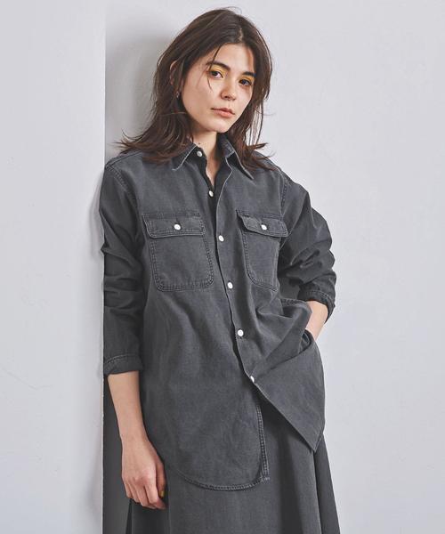 <MADISON BLUE(マディソンブルー)>HAMPTON バックサテンシャツ ■■■