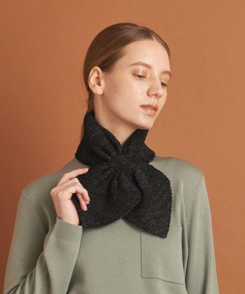 <Misha&Puff>KNIT SCARF BLACK/スカーフ