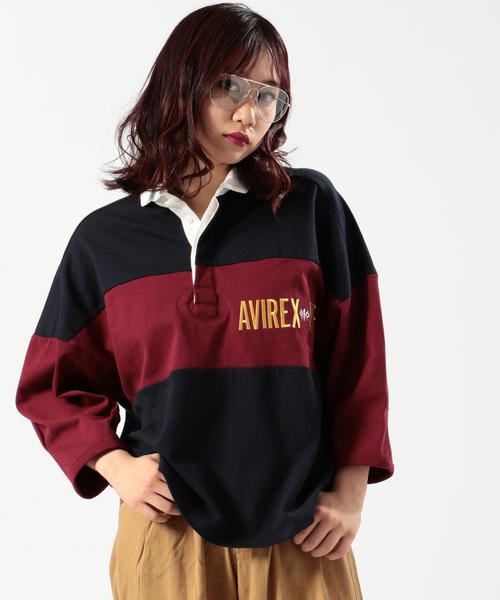 【InRed11月号上戸彩さん着用】【直営店限定】AVIREX/ アヴィレックス/ ラガーシャツ/ L-RUGGER SHIRT