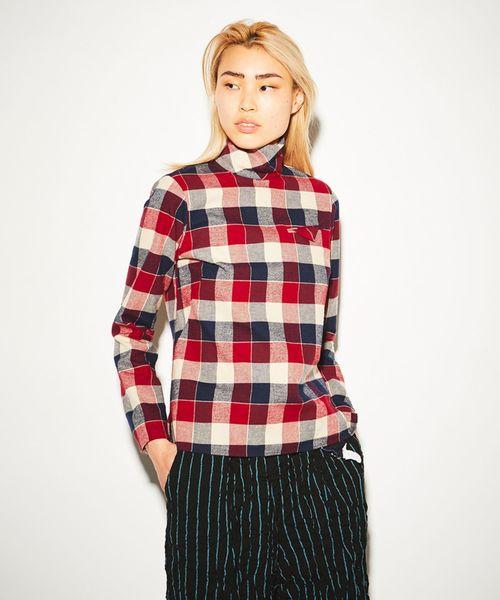 買得 【セール NECK】HIGH NECK CHECK CHECK SHIRT(シャツ/ブラウス) FACETASM(ファセッタズム)のファッション通販, butler:a1d65c07 --- wm2018-infos.de