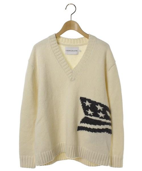 数量は多 【セール/ブランド古着】Vネックニット(ニット/セーター)|Calvin Klein Klein Jeans(カルヴァンクラインジーンズ)のファッション通販 - USED, インテリアと雑貨のお店エクリティ:535b96d8 --- skoda-tmn.ru