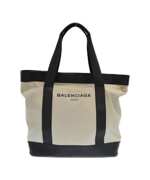 5911e6bf31a2 BALENCIAGA(バレンシアガ)の古着「ロゴプリントキャンバストートバッグ(トートバッグ)