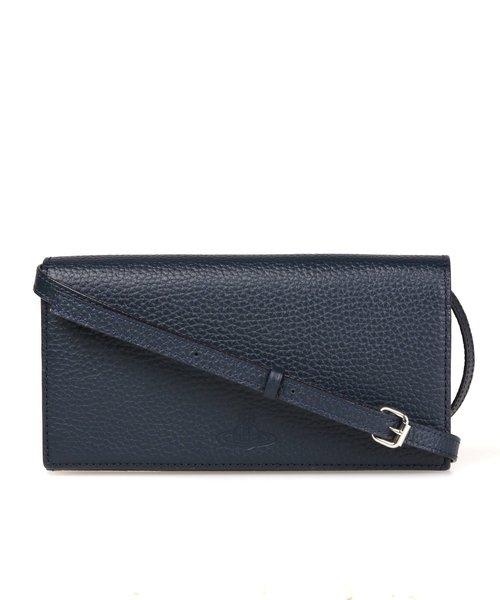 f105cb19fad9 Vivienne Westwood MAN(ヴィヴィアンウエストウッドマン)の【MINIMALISM】ショルダーストラップ長財布