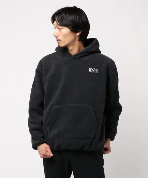 SY32 by SWEET YEARS(エスワイサーティトゥバイスィートイヤーズ)の「【73】【SY32 by SWEET YEARS】POLARTEC REVERSIBLE HOODIE(パーカー)」|ブラック