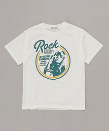 ROCK SOCIETY Tシャツ【L】アイボリー
