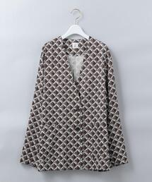 <6(ROKU)>SQUARE PRINT SHIRT JACKET/シャツジャケット