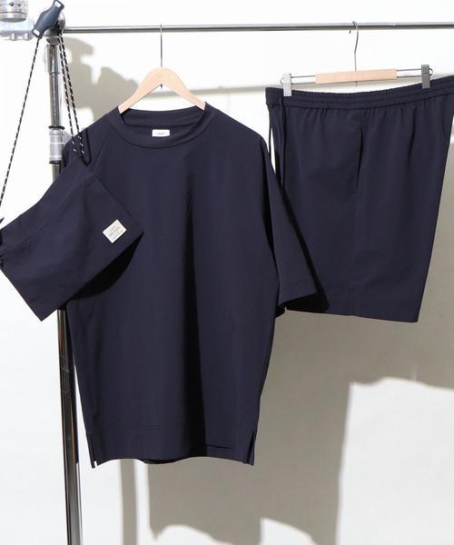 (3点セット)ストレッチクルーネックTシャツサマーセットアップ(一部WEB限定カラー)