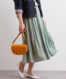 NFC サテン ギャザー スカート