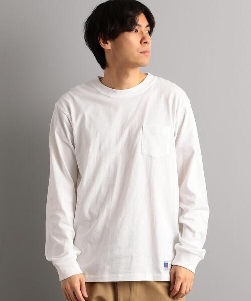 【WEB限定】[ラッセルアスレチック] SC★★RUSSELL ポケットTシャツ / カットソー †