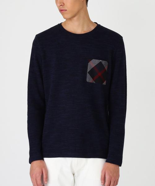 驚きの価格が実現! チェックポケットメランジニットソー(Tシャツ/ BLACK/カットソー)|BLACK LABEL CRESTBRIDGE(ブラックレーベル LABEL・クレストブリッジ)のファッション通販, 恵山町:fc124882 --- 5613dcaibao.eu.org