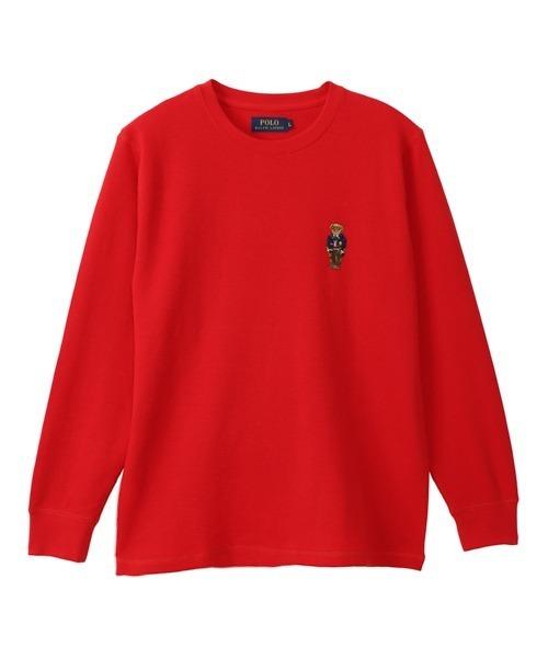 【POLO RALPH LAUREN】VARSITY ベア刺繍 ワッフルTシャツ