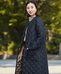 【別注】<Traditional Weatherwear> ARKLEY ロング コート キルティング