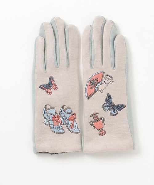 【kilki/キルキー】モチーフ刺繍レディース手袋